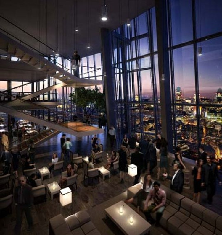 The shard renzo piano archdaily for Restaurants at the shard