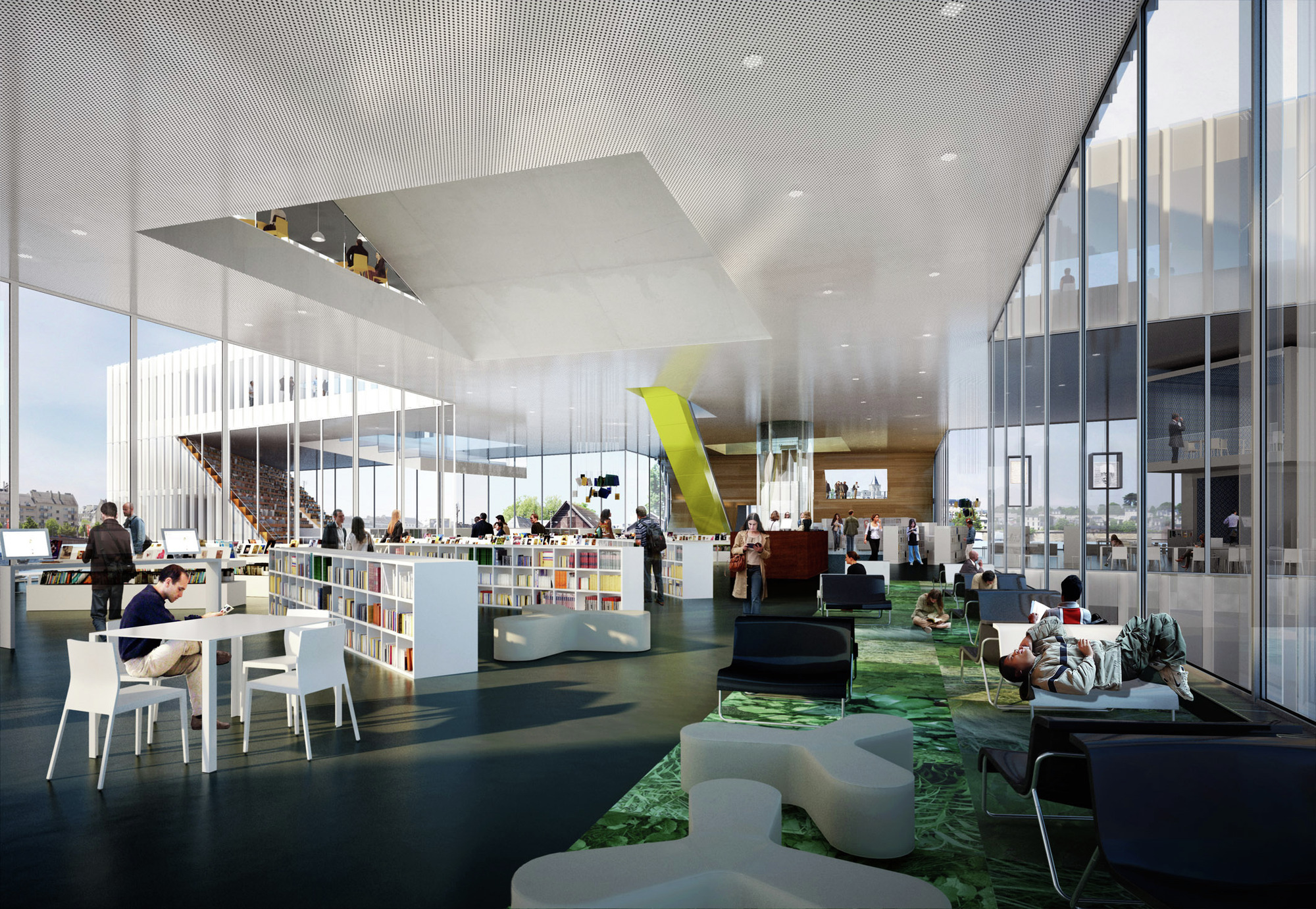 Gallery Of Oma Wins Competition For New Bmvr Library In