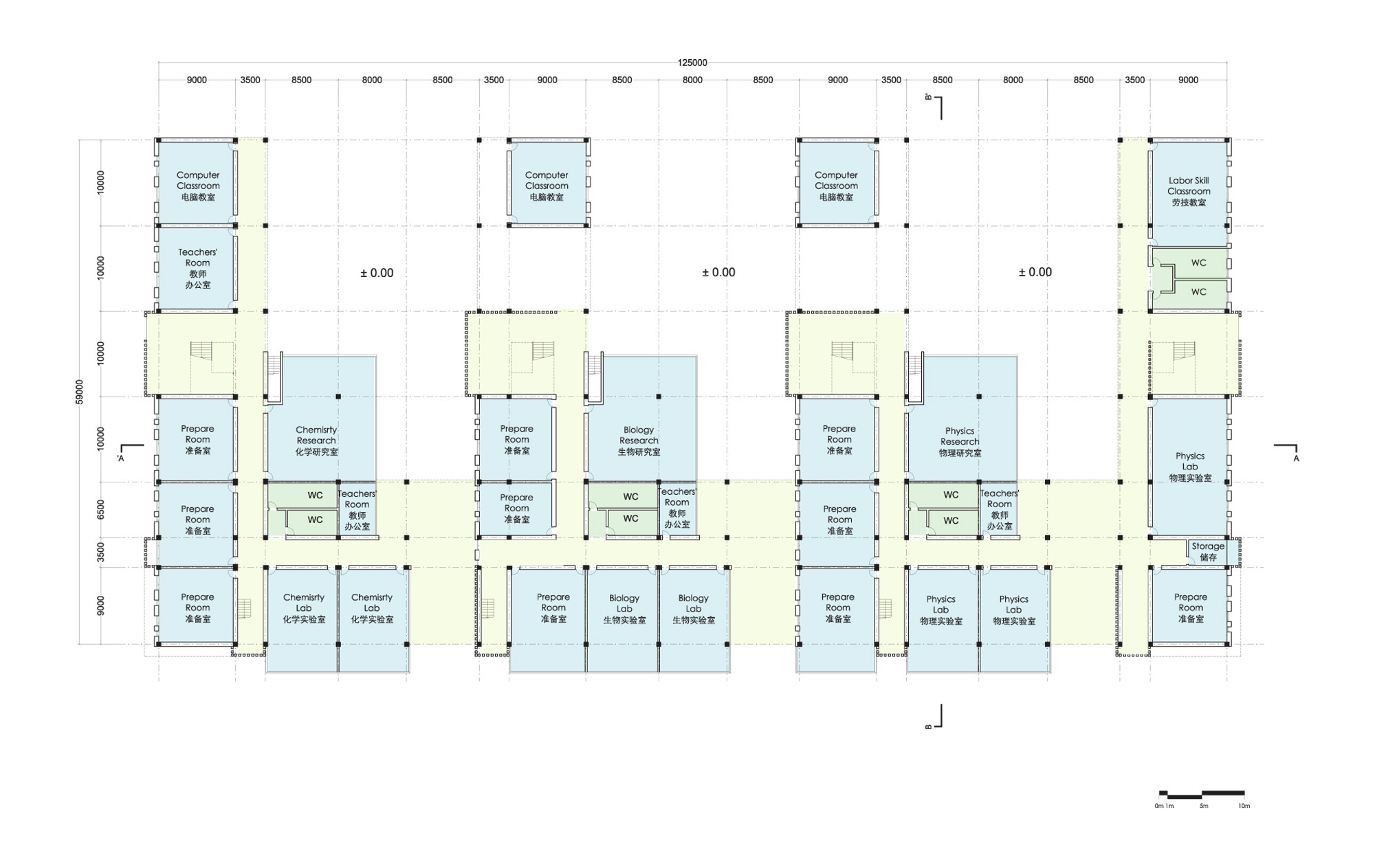 Classroom Block Design ~ Gallery of kunshan middle school proposal united design