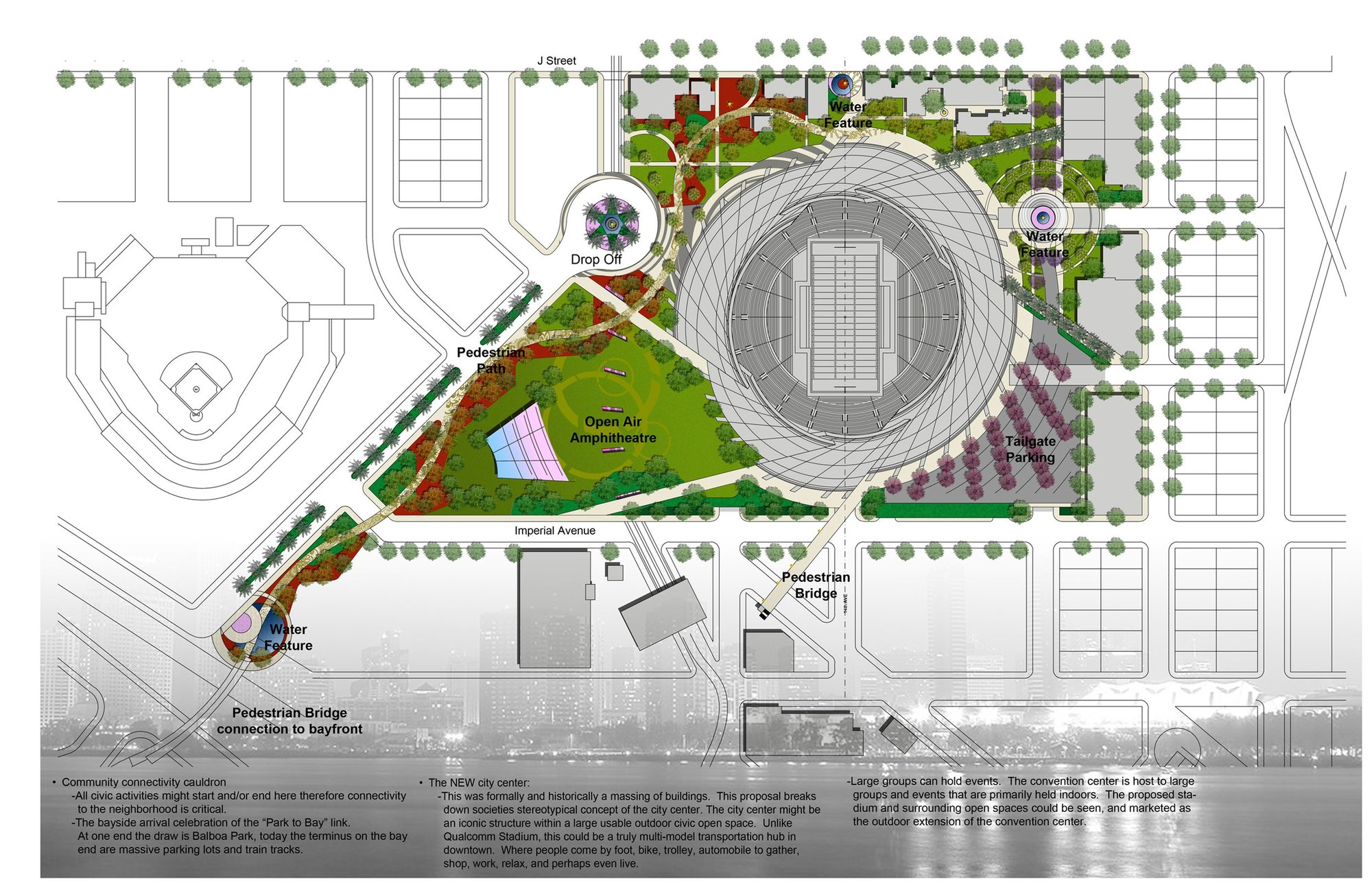Gallery Of San Diego Stadium Master Plan De Bartolo
