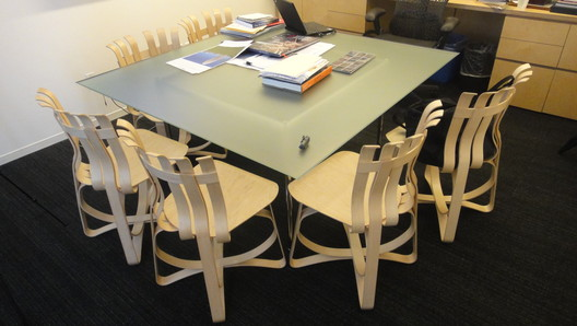 Philip's office, Gehry chairs