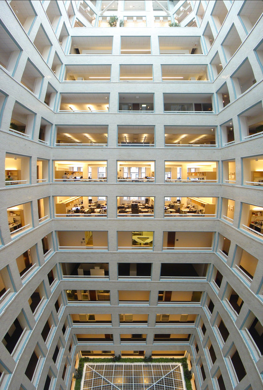 The central void of the building
