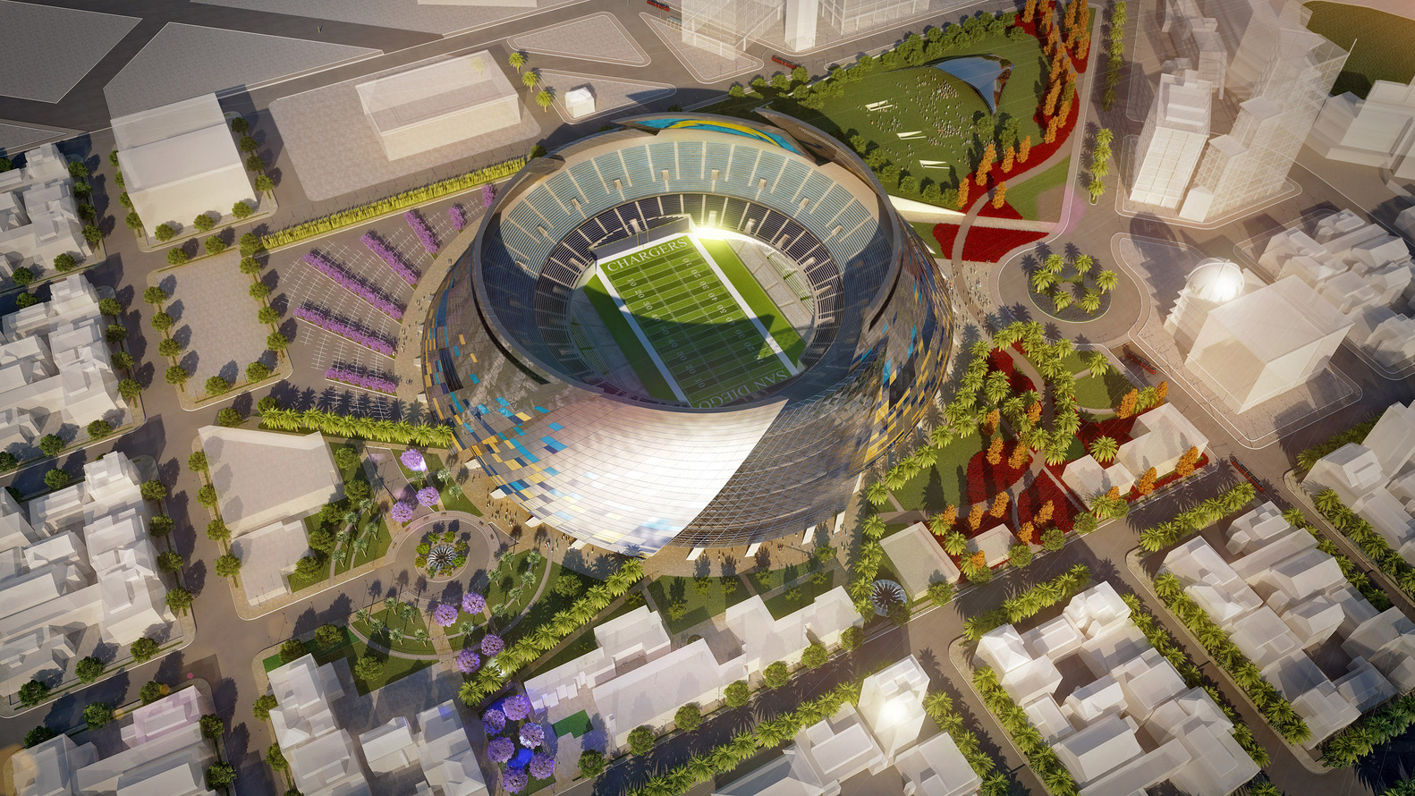 gallery of san diego stadium master plan / de bartolo + rimanic