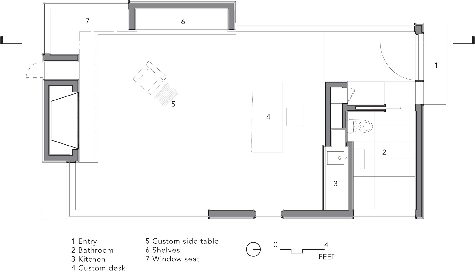 Gallery of writer s studio cooper joseph studio 8 for Photography studio floor plans