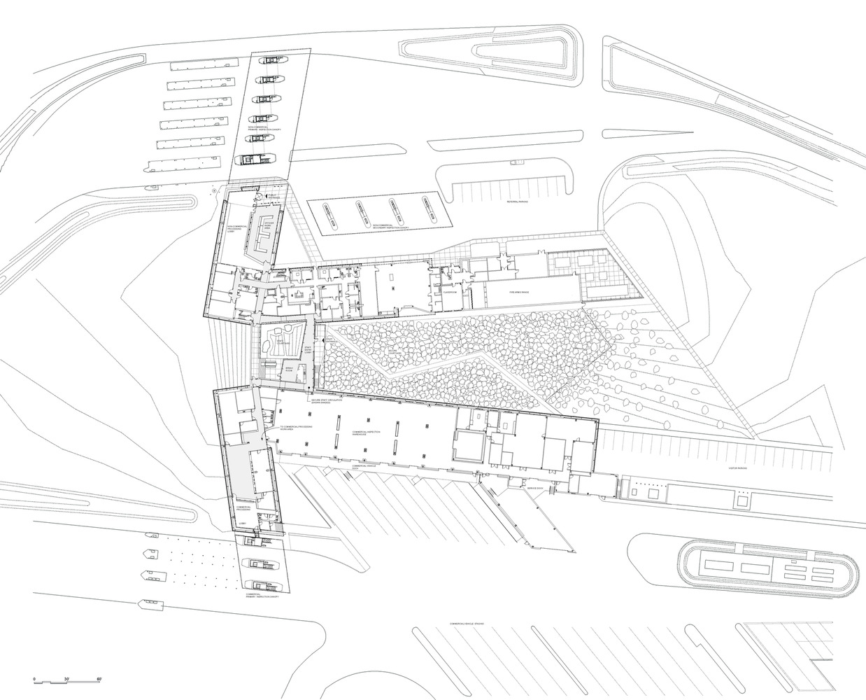 gallery of u s commercial port of entry amp border station u s commercial port of entry amp border station robert siegel architects ground floor