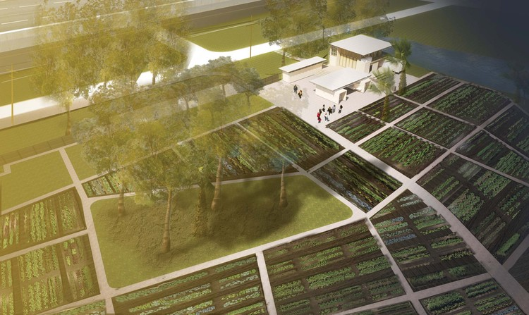 Rendering of the Grow Dat Youth Farm, designed by the Tulane City Center at the Tulane School of Architecture. © Grow Dat Youth Farm.