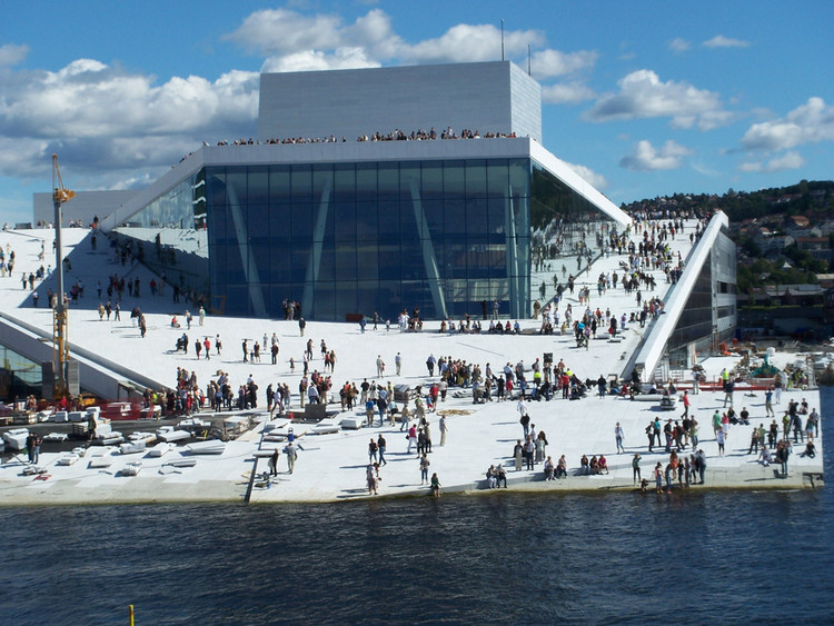 The Oslo Opera House by Snohetta. According to Wired, inspired by skateboarders.