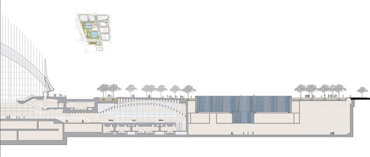 Site Section East-West © Handel Architects