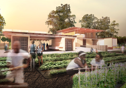 Rendering of the Grow Dat Youth Farm.