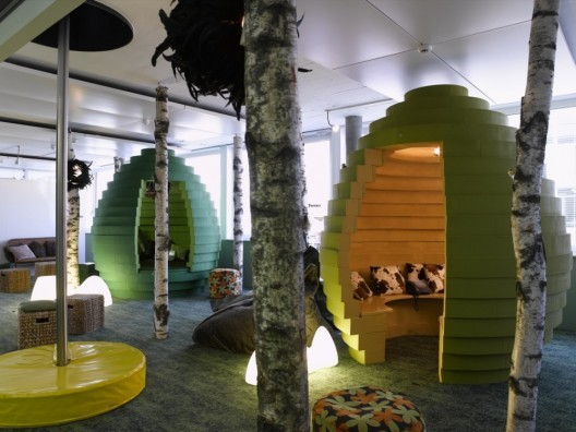 Meeting Spaces in Google's Zurich Headquarters.