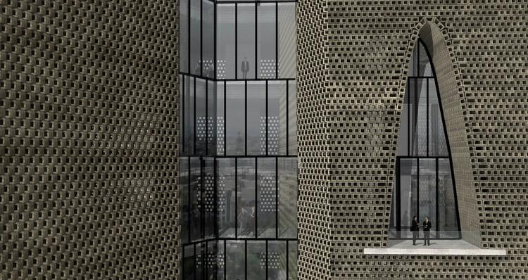 Exterior detail © Alejandro Aravena Architects