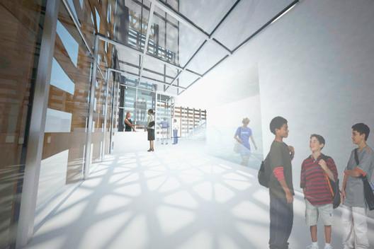 Reception Area © Shigeru Ban Architects