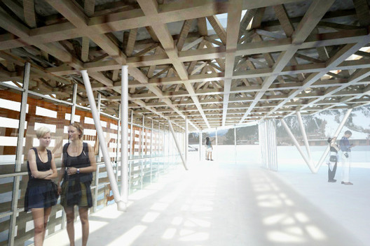 Roof Deck - shaded and full-sun viewing available © Shigeru Ban Architects