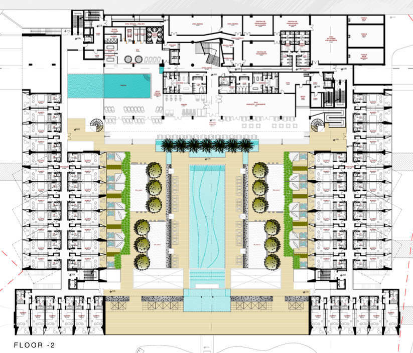 Gallery Of Yellow Hotel Plan Associated Architects 17