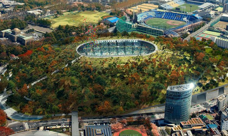 Dorell.Ghotmeh.Tane / Architects & A+Architecture / Cortesía del Consejo de Deportes de Japón