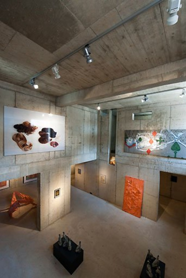 "House for Music, during the art exhibition, ""The Reality of the Unbuilt."" Photo © Thomas Mayer"
