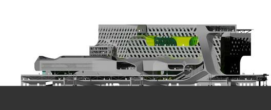 Elevation - Courtesy of Neil M. Denari Architects