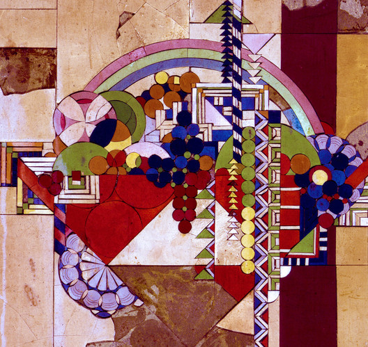 """Linoleum Tile, May Basket. """"The Frank Lloyd Wright Foundation Archives (The Museum of Modern Art 