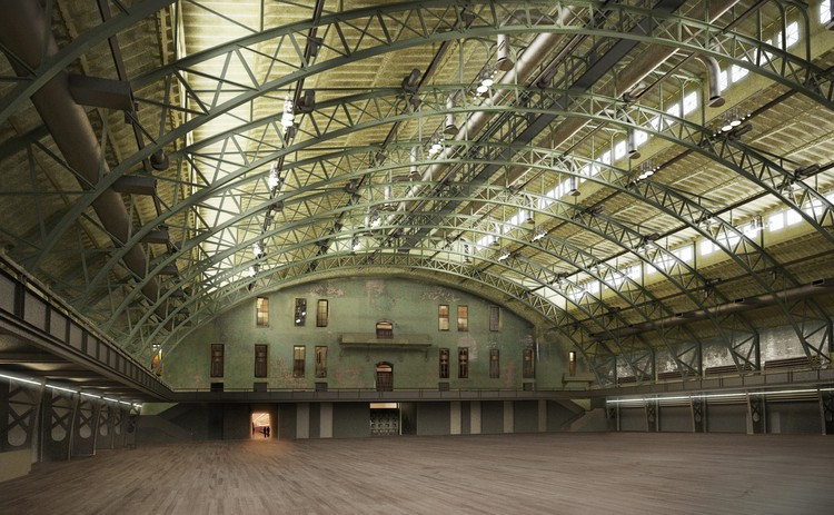 © Herzog and de Meuron.  Rendering for the Drill Hall.