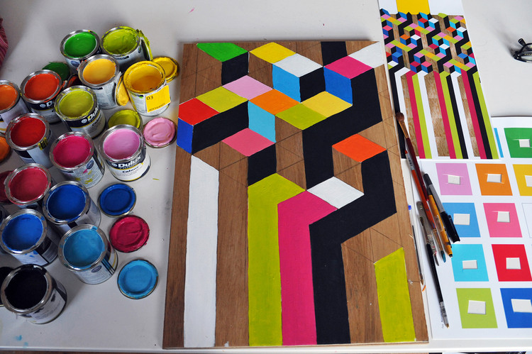The Movement Cafe / Morag Myerscough, Courtesy of Morag Myerscough and Luke Morgan