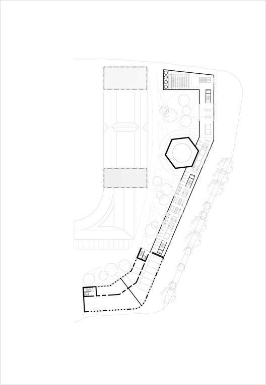 Cultural and spiritual russian orthodox center in paris for Data center floor plan