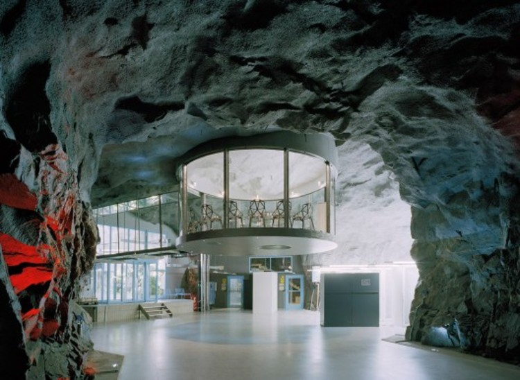 The Data Center Pionen – White Mountain, designed by Albert France-Lanord Architects ,is housed in a former 1,200 sqm Cold War bunker (originally a World War II bunker); an amazing location 30 meters down under the granite rocks of the Vita Berg Park in Stockholm. The Center, which houses two of Wikileaks servers, shows the lengths some clients will go to keep their data secure.