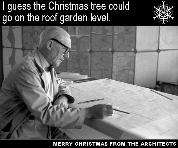via Le Corbusier, it's one of his five points of Christmas