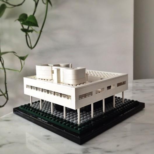 Le Corbusier's Ville Savoye via ArchDaily Instagram