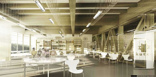 mediatheque / Courtesy of BAT + Arquitecnica + LaSuma Paisajistas