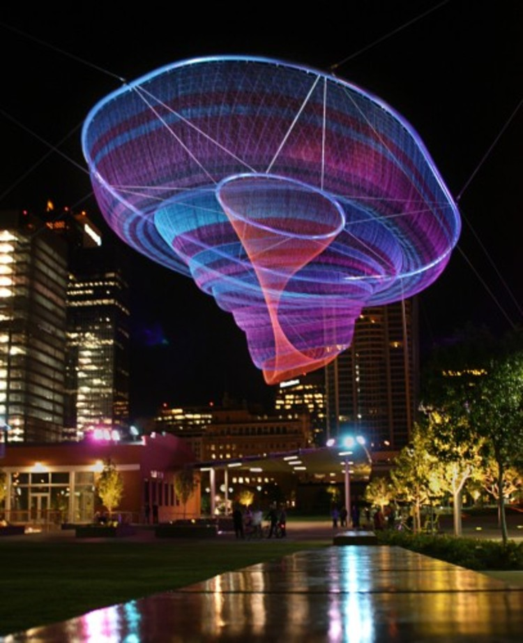 Janet Echelman Reshaping Urban Airspace World-Wide © Christina O. Haver