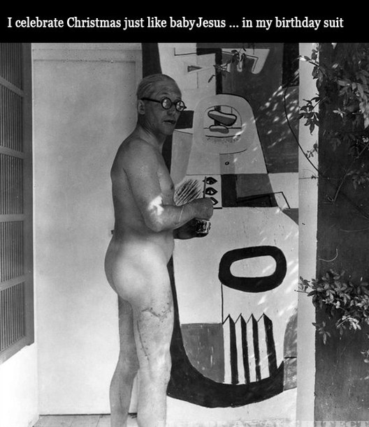 via Architect Le Corbusier naked