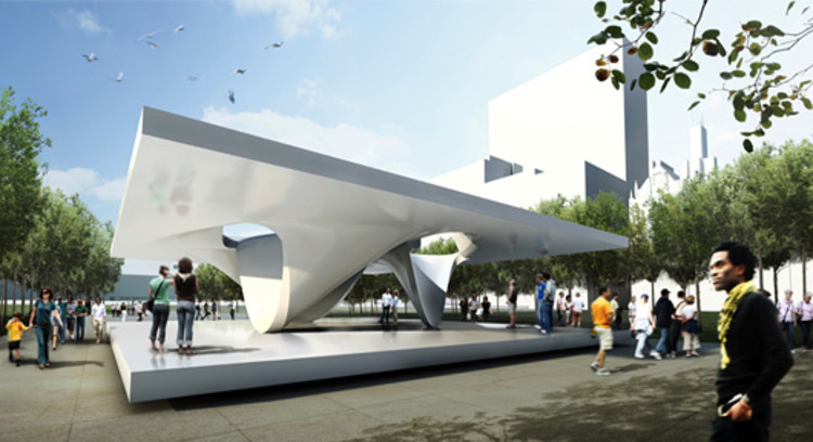 Designs for burnham plan centennial by zaha hadid and ben for Pavilion architecture design