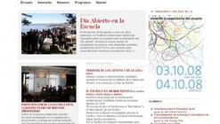 Sitio Web de la Escuela de Arquitectura y Diseño de la PUCV