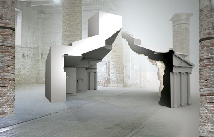 Fat will show a large model based on Palladio's Villa Rotunda at the Biennale, vía BD Online