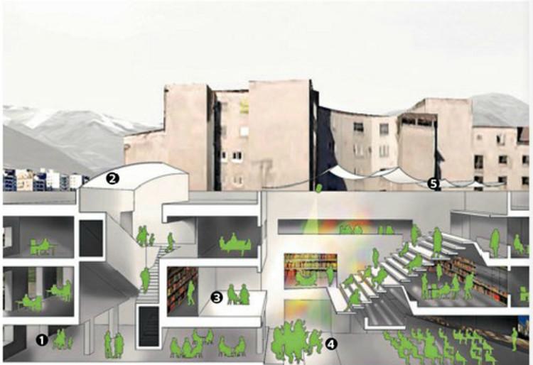 Remodelación Goethe Institute, © La Tercera
