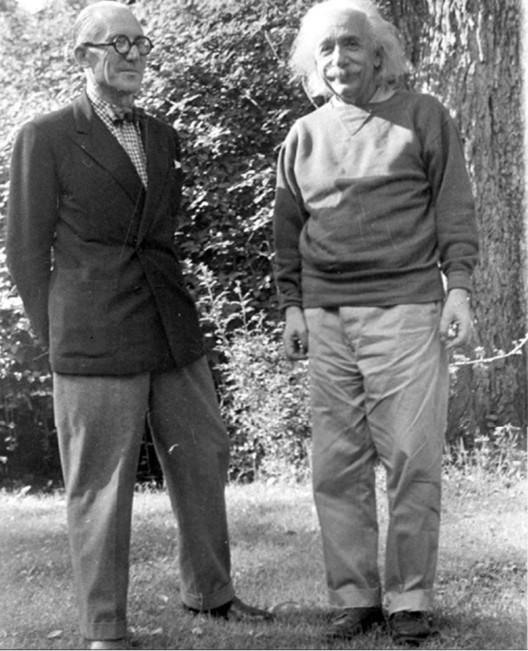 Le Corbusier y Albert Einstein, Princeton, New Jersey, 1946