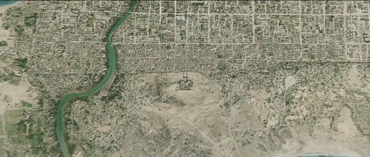 Vista aérea de Alejandría y el complejo de la Biblioteca
