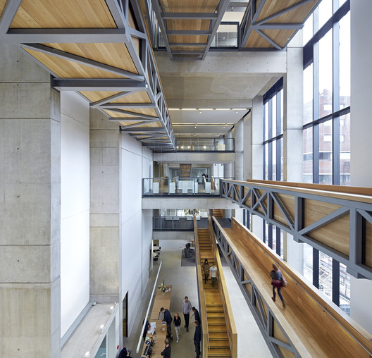 The Manchester School of Art by Feilden Clegg Bradley Studios, Winner of the 2014 RIBA Client of the Year Award. Image © Hufton + Crow