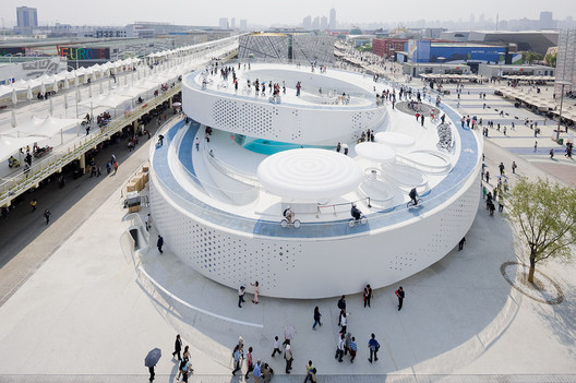 The Danish Pavilion at the Shanghai Expo 2010, exemplary of Bjarke Ingels' entrepreneurial approach to architecture. Image © Iwan Baan