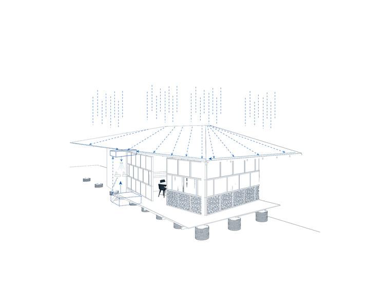 Módulo de control mixto en los llanos: tratamiento de aguas lluvias. Image Cortesía de Enlace Arquitectura