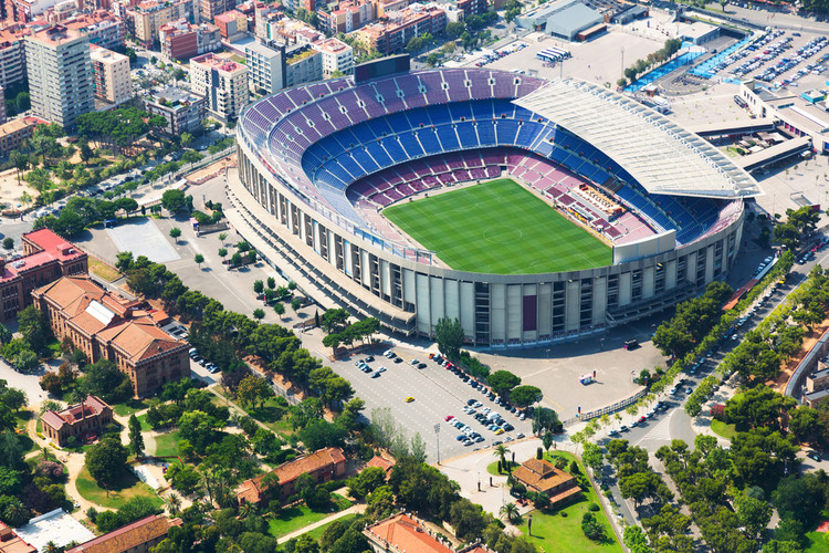 FC Barcelona Announces Finalists for Camp Nou and Palau Blaugrana Remodel, The Camp Nou stadium. Image © Iakov Filimonov via Shutterstock