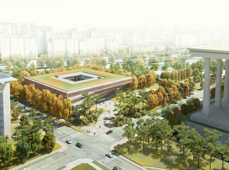 Winning Design for Seoul's National Assembly Smart Work Center and Press Center Unveiled, Courtesy of HAEAHN Architecture and H Architecture