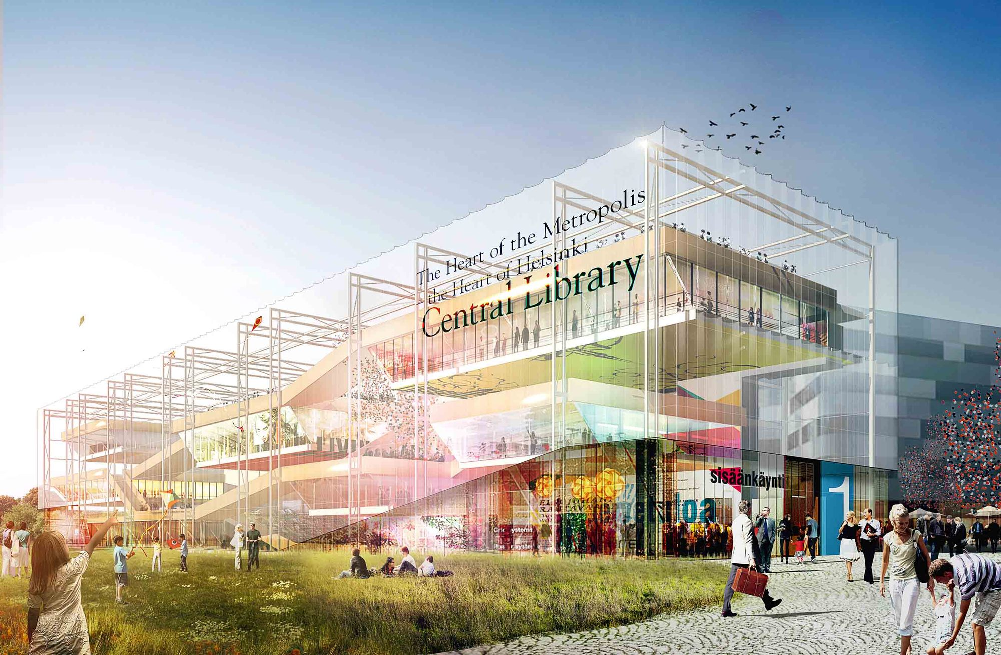 Gallery Of Helsinki Central Library Competition Entry