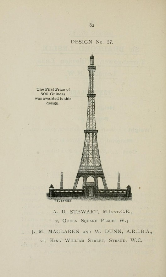 © Descriptive illustrated catalogue of the sixty-eight competitive designs for the great tower for London compiled and edited by Fred. C. Lynde
