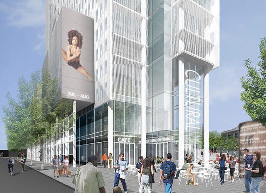 32-Story Tower at Lafayette and Ashland, Courtesy of TEN Arquitectos.  Via The Architect's Newspaper