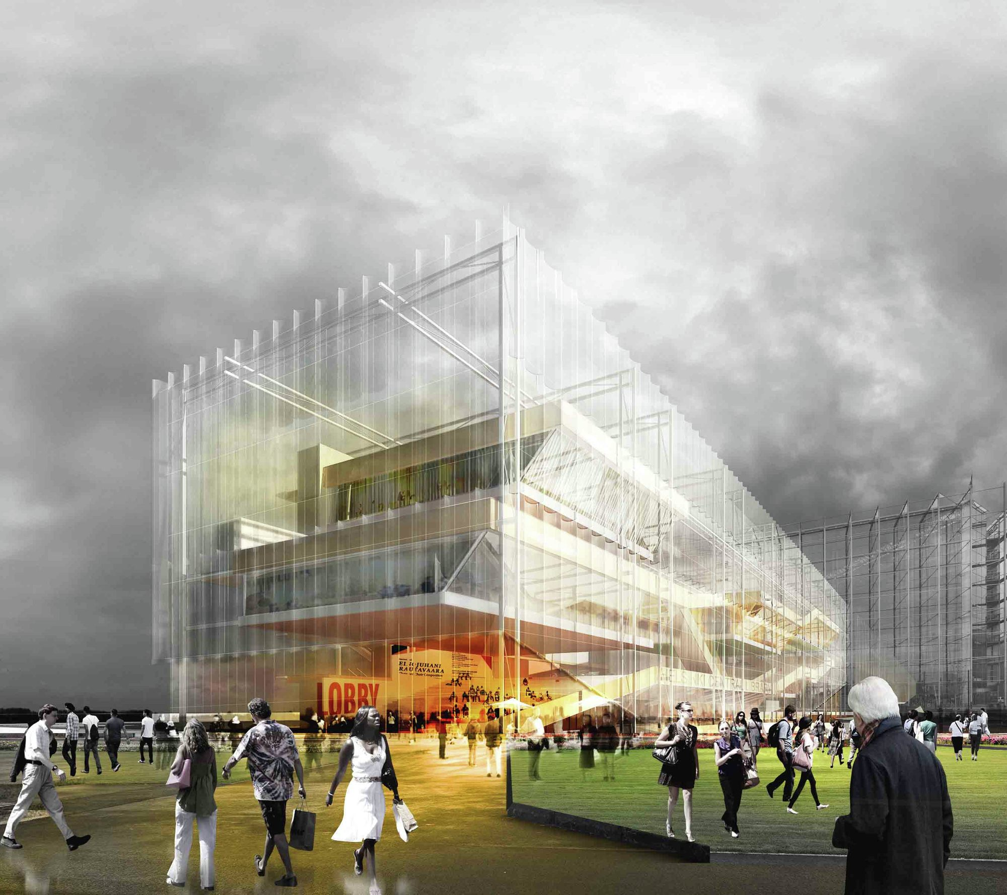 Gallery of helsinki central library competition entry for Stl architects