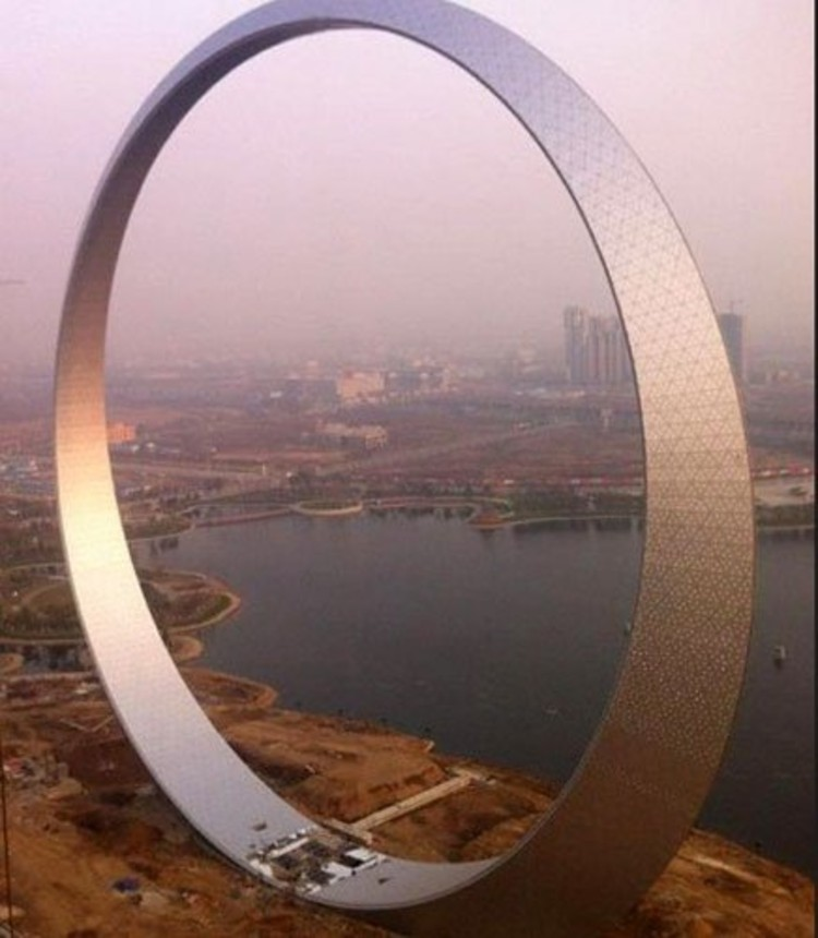 China's 'Ring of Life' Photo: Sina Weibo