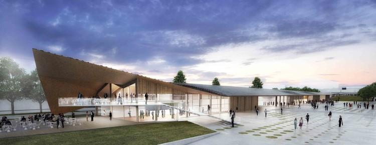 Courtesy of Kengo Kuma & Associates + Holzer Kobler Architekturen