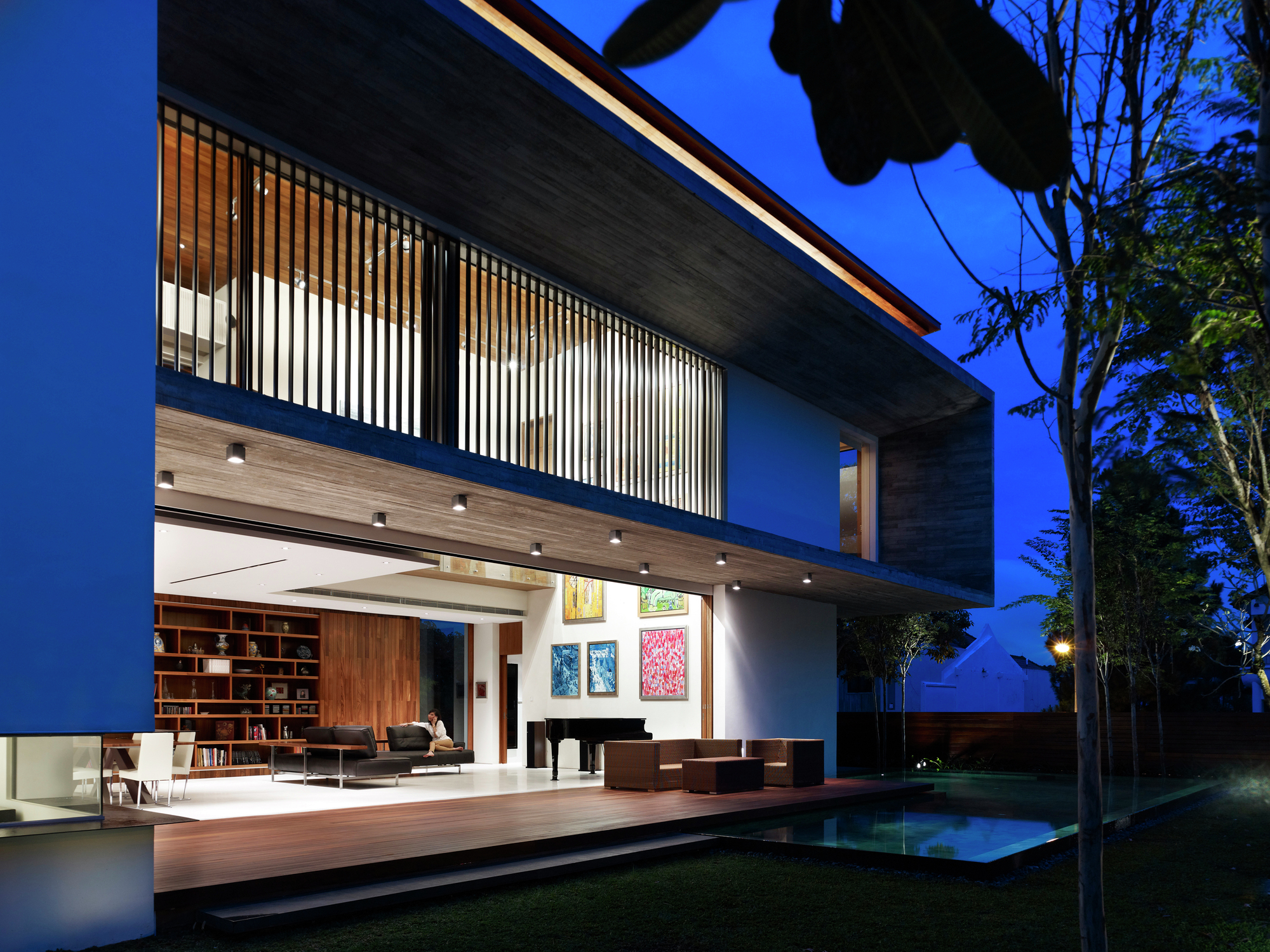 Galer a de m house ong ong architects 1 for Home node b architecture