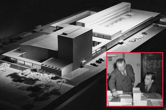 Working on the unbuilt Smithsonian Gallery of Art © Design Research, Smithsonian Institution Archives